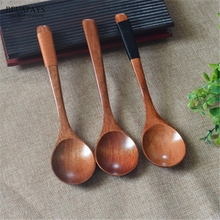 12pcs Wood Crafts Creative Wooden Coffee Wrapped Spoon Healthy Environmental Protection Long Handle wedding decoration