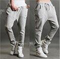 2016 new arrival moda masculina calças quentes cor sólida calças harém calças de moletom de algodão dos homens de alta qualidade calças de suor dos homens