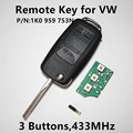 (P/N: 1K0 959 753N) Remote Key for VW Volkswagen GOLF PASSAT Tiguan Polo Jetta Beetle Car Keyless Entry 1K0959753N 753 N