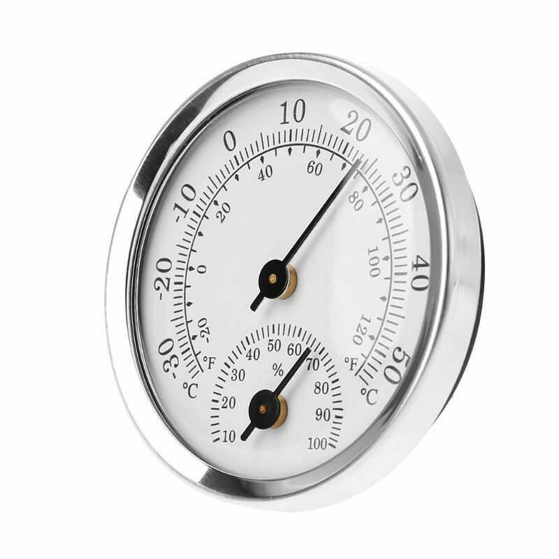 Kompakt Ofis Atölye Termometre Higrometre Kapalı Metre Mini Ev Duvara Monte Sıcaklık Nem