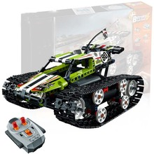 Motor Power Function Rc Tracked Racer Car Electric Fit Legoings Technic Car 42065 Speed Car Building Block Bricks Model Kid Gift technic series 42065 radio controlled tracked racer set race car tank legoinglys building block brick toy technic lepin 20033