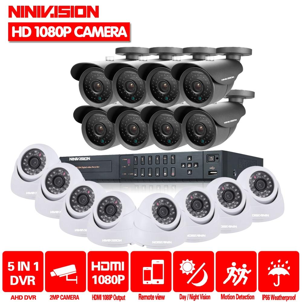 Sistema de CCTV 16CH HDMI 1080P DVR Video CCTV sistema 16 Uds 2.0MP 3000TVL IR Interior Exterior cámara de seguridad sistema de vigilancia