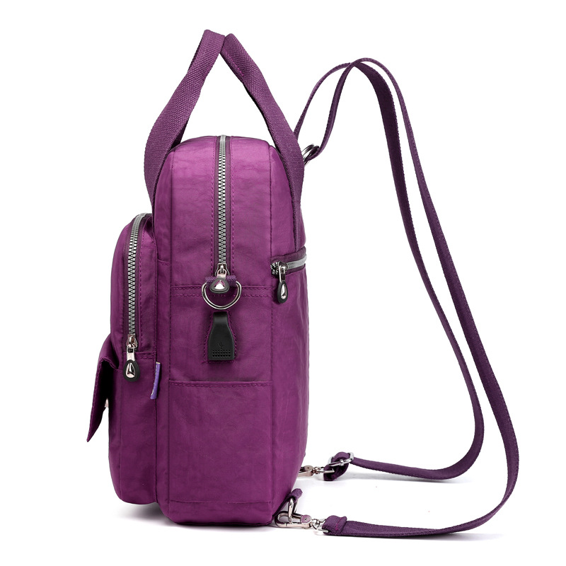 Image 3 - New Women Backpack Multifunction Waterproof Nylon Lady Women Backpacks Female Casual Travel bag Bags mochila feminina u s b-in Backpacks from Luggage & Bags