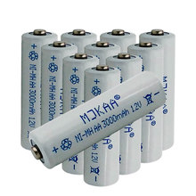 hot deal buy cncool 10pcs 1.2v 3000mah ni-mh aa rechargeable batteries 2a neutral battery rechargeable battery aa batteries