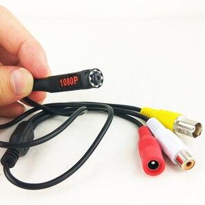 Image 1 - 1080P Mini AHD Sicherheit Kamera mit 8PCS 940nm IR LEDs Nachtsicht indoor CCTV Video Audio Kamera Für HD AHD DVR System