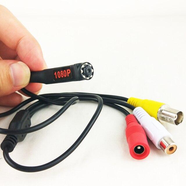 1080P Mini AHD Sicherheit Kamera mit 8PCS 940nm IR LEDs Nachtsicht indoor CCTV Video Audio Kamera Für HD AHD DVR System