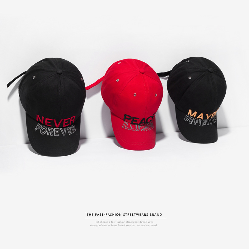 INFLATION ''NEVER FOREVER'' Embroidery Baseball Caps Men Women Hat Fashion Tongue Trucker Hat High Street Unisex Caps 112CI2018