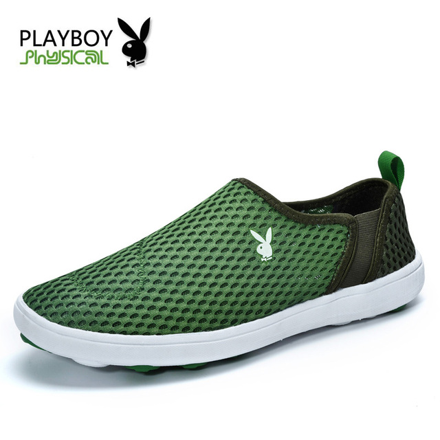 PLAYBOY Men Casual Shoes 2016 New Arrival Men's Fashion Elastic band  Breathable Spring Shoes Male Plus