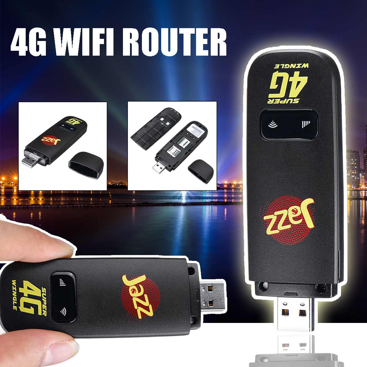 LEORY 4G LTE USB 150Mbps Modem Network Adapter With WiFi Hotspot SIM Card 4G Wireless Router For Travel Car Outdoor Office