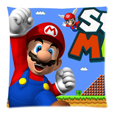 Custom Cushion Cover Super mario Cotton Linen Pillow Case Chair Sofa Home Decorative Throw Pillow Cover  sc 1 st  AliExpress.com & Buy super mario chair and get free shipping on AliExpress.com