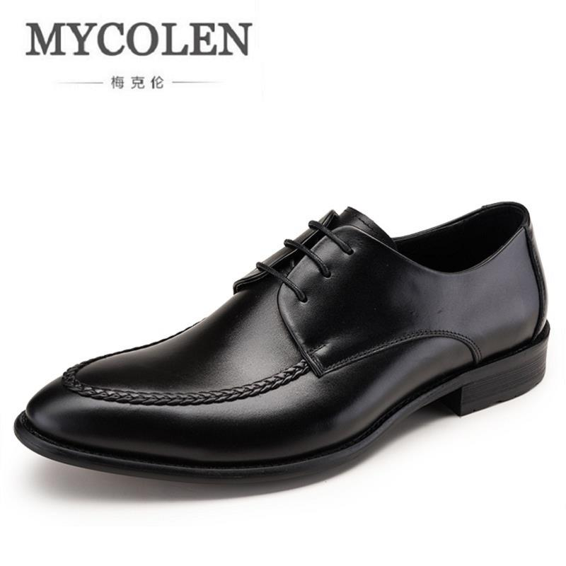 MYCOLEN Business Dress Men Shoes 2018 New Classic Men's Business Suits Shoes Fashion Lace up Shoes Man Flats Luxury Product