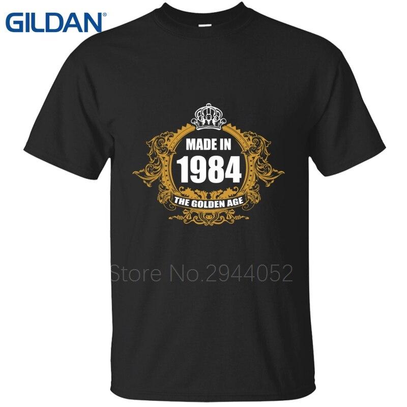 3dc6ac53c Impressão uniforme preto mens 33Rd Aniversário Made In 1984 rodada pescoço  ali t beleza camiseta loja