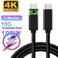 5A 100W USB type C à USB C câble PD mâle à mâle chargeur de données de charge rapide QC4.0 câble pour Macbook Samsung S9 USB 3.1 PD câble