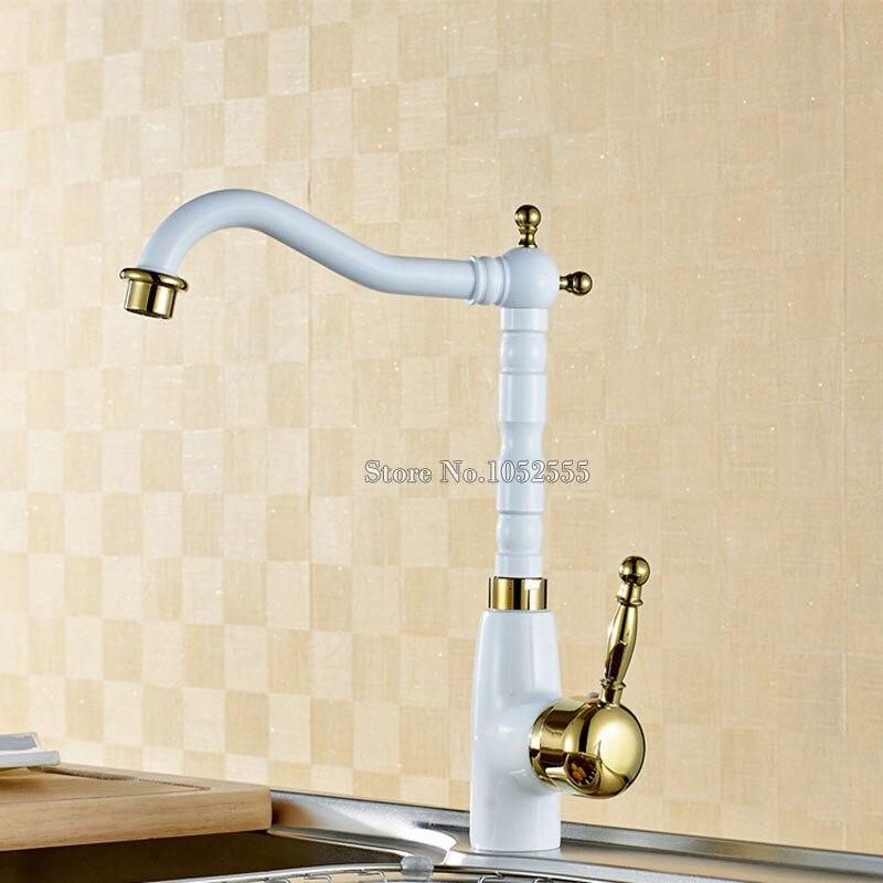 Traversant le robinet doré torneiras mitigeur vasos robinet evier eau torneira cozinha robinet de cuisine misturador robinet poignées CP01