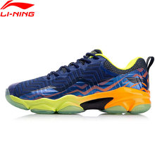 (Clearance)Li-Ning Men SONIC BOOM KNIT Professional Badminton Shoes LN BOUNSE+ LiNing Sport Shoes Sneakers AYZN011 XYY073(China)