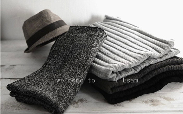 Image 4 - Thick Warm Lic Scarves for Men Black Knitted Men's Winter Scarf Male Gray Ring Carves Winter Knitted Infinity Man Scarf Collar-in Men's Scarves from Apparel Accessories