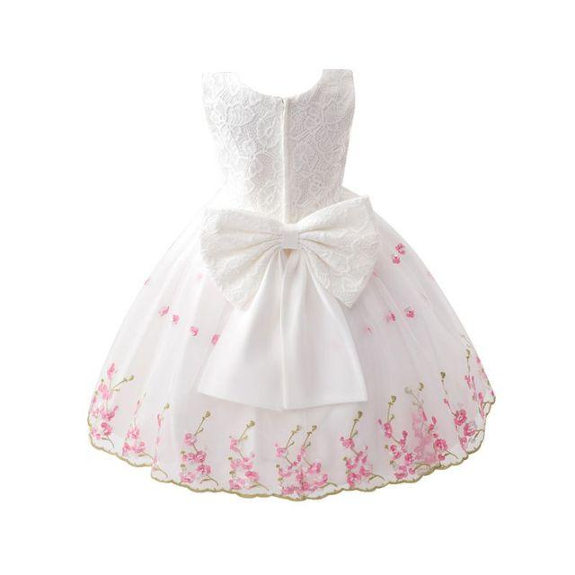 Детские Девушки Дети Цветочные Бантом Платье Невесты Свадьба Танцевальная Одежда Летние Платья