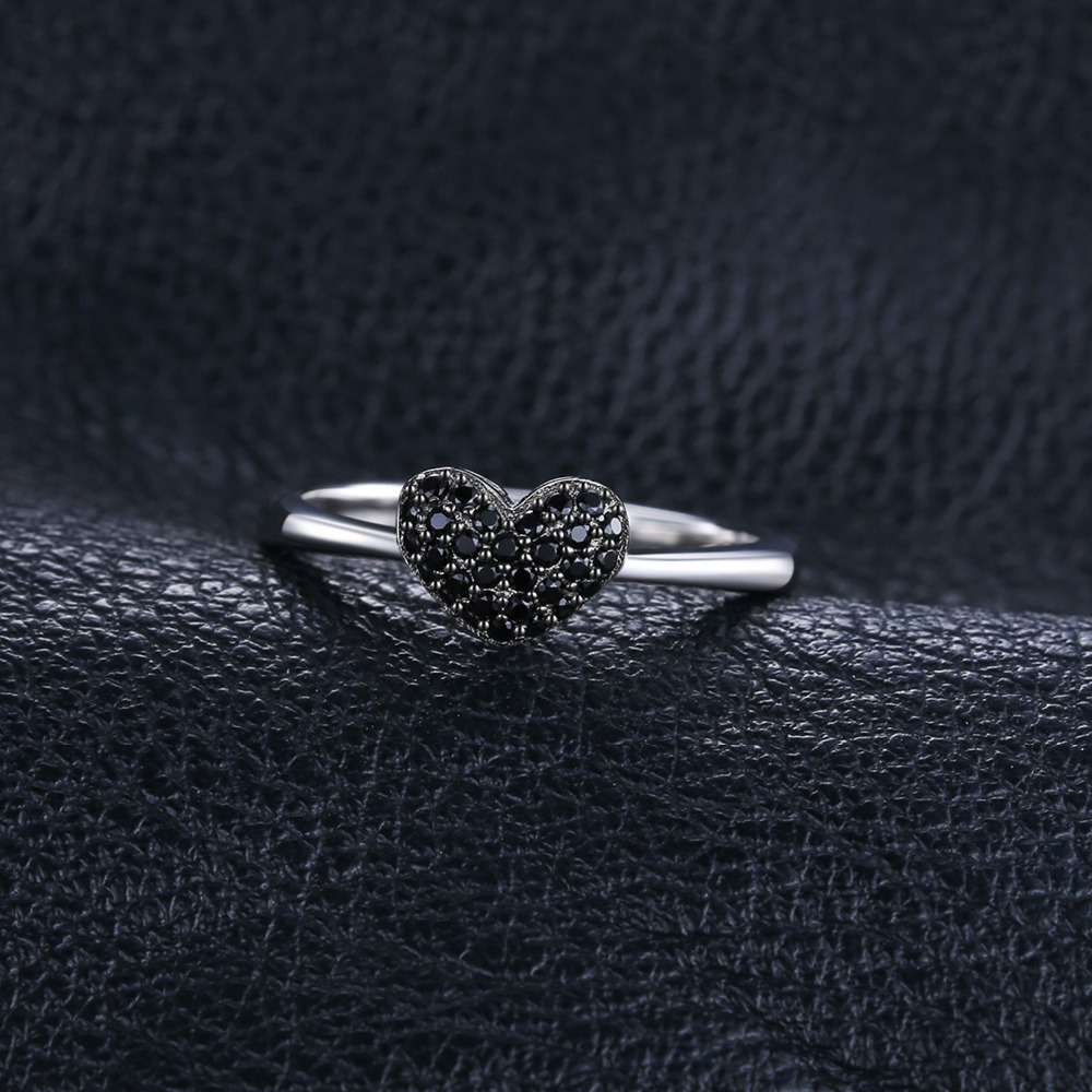 SmykkerPalace Fashion 0.14ct Natural Black Spinel Kærlighed Heart - Smykker - Foto 4