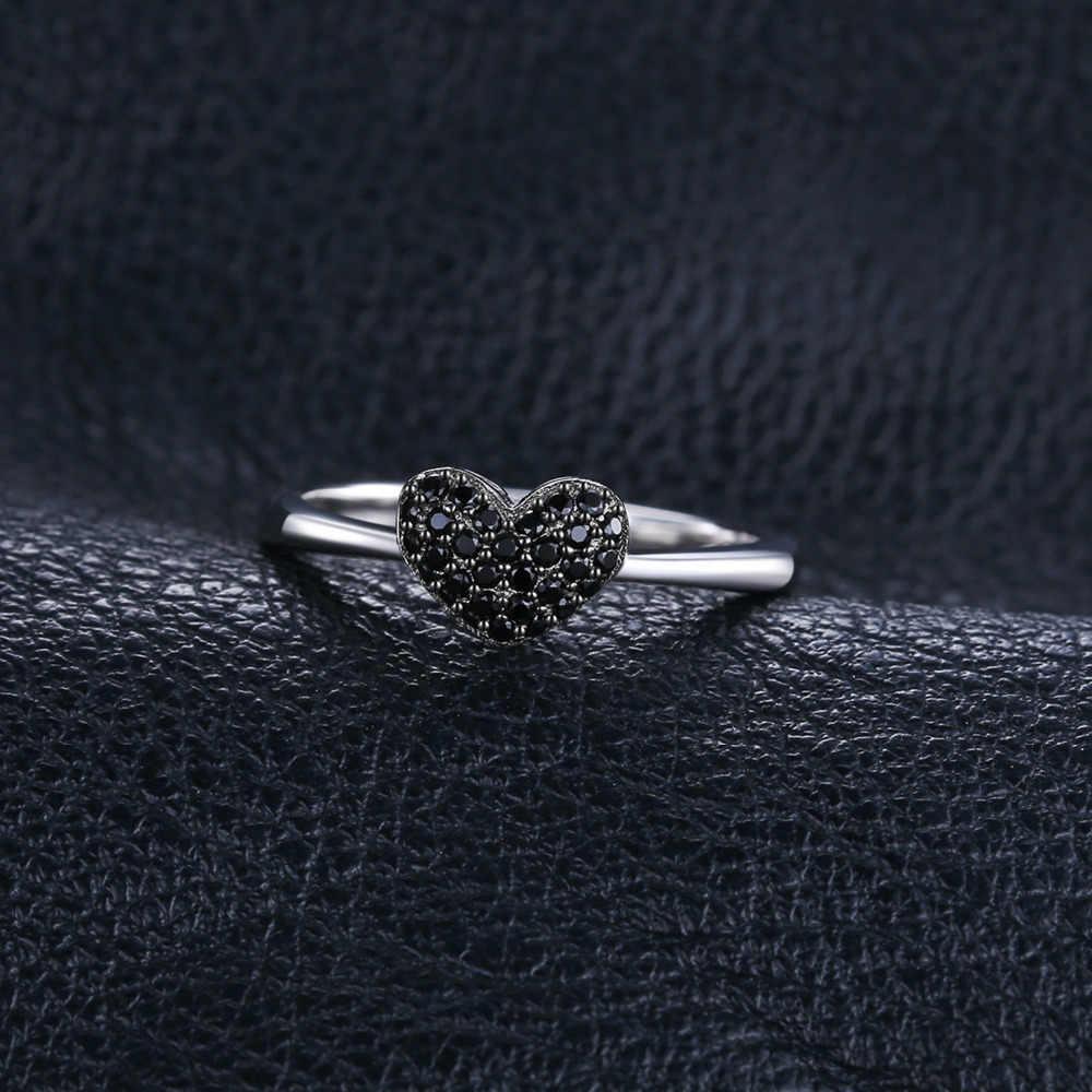 JewelryPalace หัวใจธรรมชาติสีดำ Spinel แหวน 925 เงินสเตอร์ลิงแหวนแหวนหมั้นแหวนเงิน 925 เครื่องประดับอัญมณี