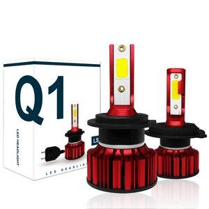 Image 1 - COOLFOX H7 80W LED Lamp for Auto 12000Lm H4 hi lo Led Light Turbo Bulb Headlight 9005 9006 H11 COB Chip Far Ampul HB4 6000K