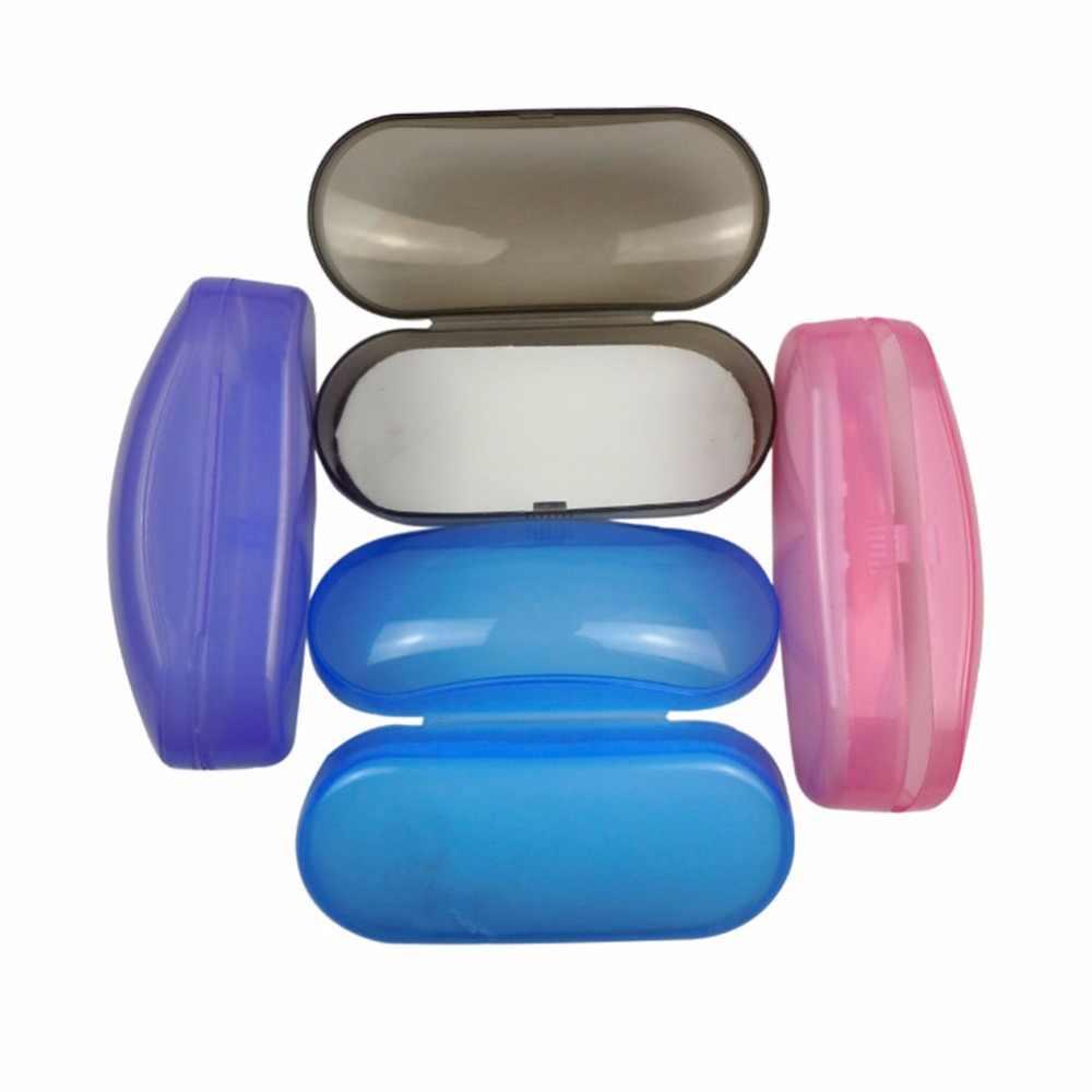 Tragbare Klar Transparent Shell Brillen Sonnenbrillen Hard Case Box Schutz