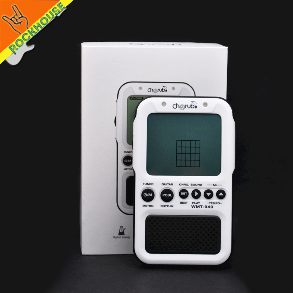 2017 NEW Cherub Digital Metronome Built-in guitar chord table with Tuner Tone Generator 4in1 Eletronic Metronome Free shipping cherub 1 recruit
