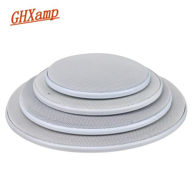 GHXAMP 2 قطعة 4 بوصة 5 بوصة 8 بوصة سيارة سقف شبكة سماعات شبكة الضميمة صافي 6.5 بوصة الغطاء الواقي مضخم الصوت لتقوم بها بنفسك ABS الأبيض