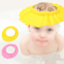 все цены на Adjustable Soft Baby Kids Child Waterproof Shampoo Bath Shower Cap Hat Sun Visor EVA онлайн