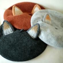 Princess sweet lolita Hat vintage handmade fox cat's ear hat