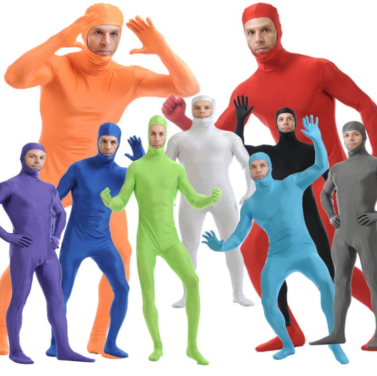 (SOF013) Lycra Spandex Full Body Fetish Zentai Skin Tights Unisex Bodysuit Cosplay Costume Unitard Jumpsuit Dancewear