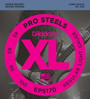 D Addario EPS170 ProSteels Bass Guitar Strings Light 45 100 Long Scale