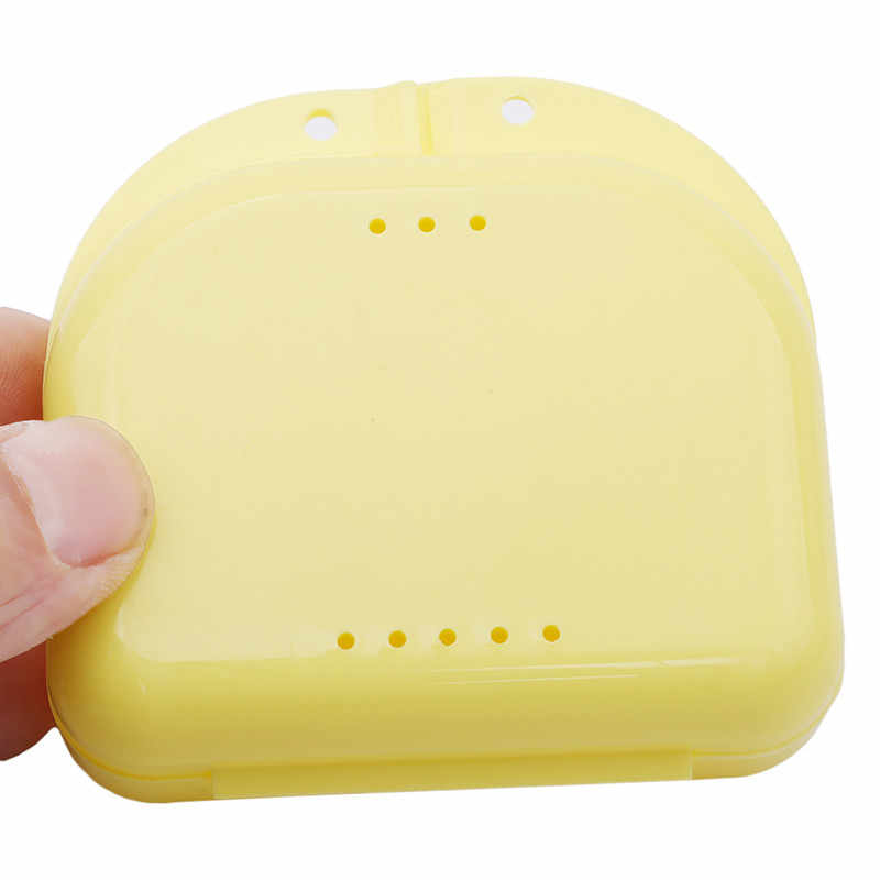 Hot Sale Denture Bath Storage Box Case Dental False Teeth Appliance Container Orthodontic Mouth Guard Plastic Storage