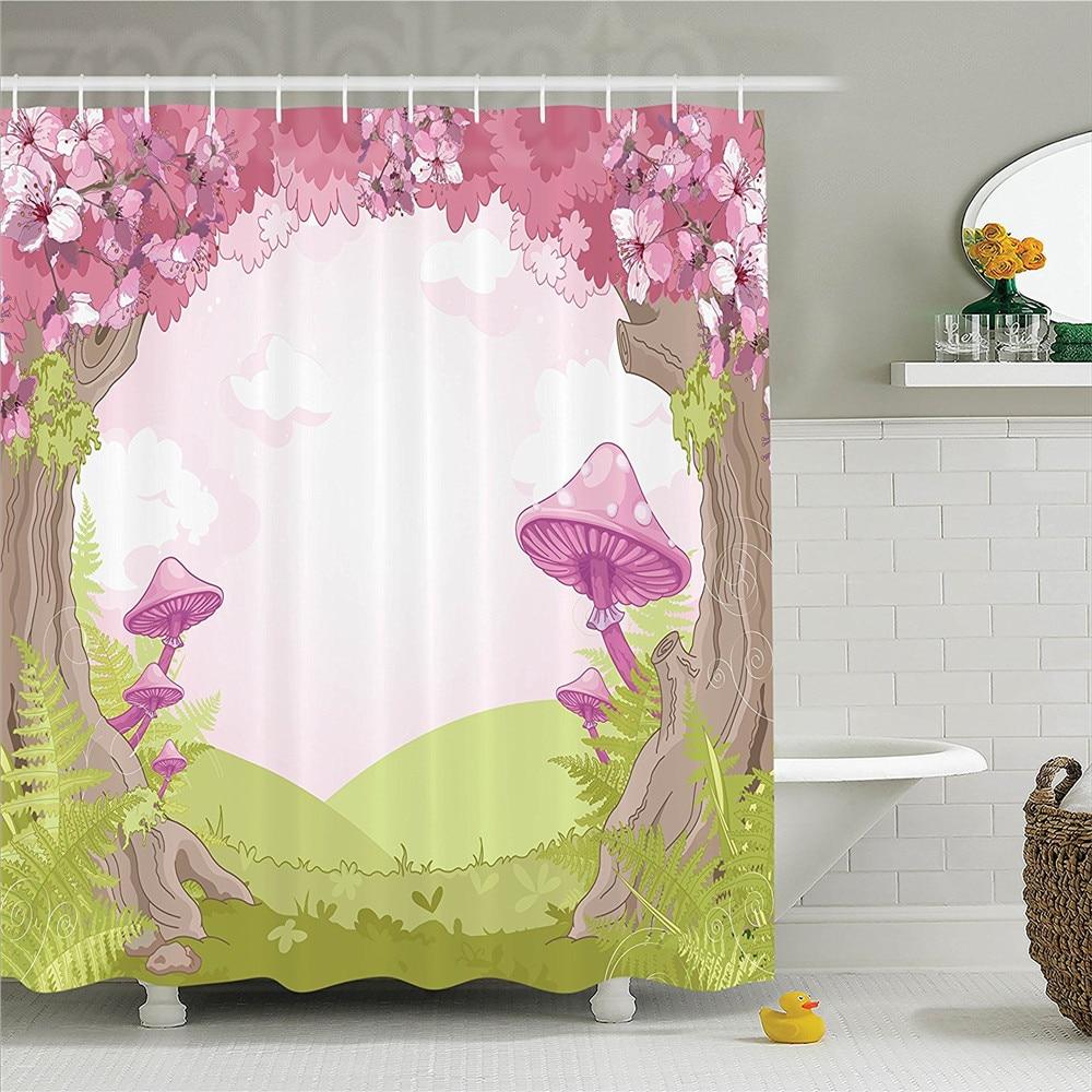 "SuperMan Waterproof FabricShower Curtain Dorm Decor Bathroom Curtain Hooks 70/"""