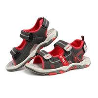 Bambini ragazzi sandali Estate scarpe nuovo stile di modo cut-outs sandali bambini tela pioggia sandali traspirante flats shoes 2-11 anni