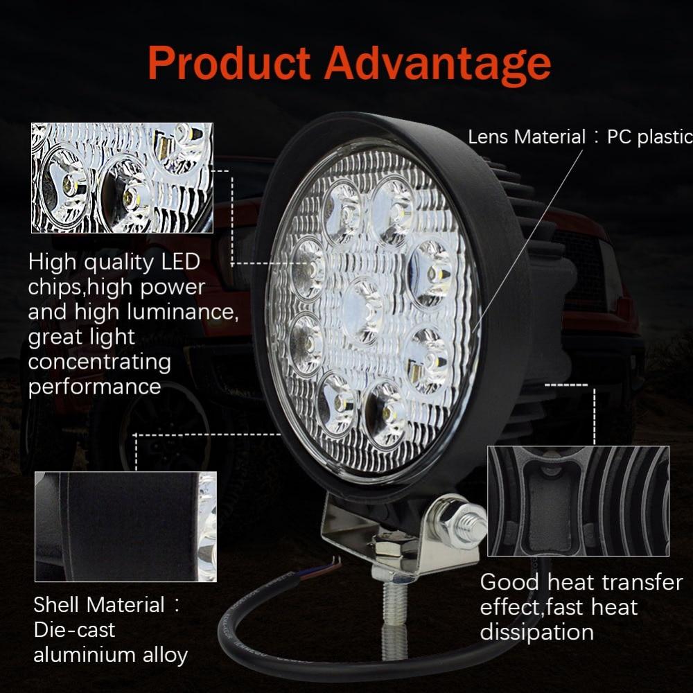 10x Safego 4inch 12v 24v 27W led ledlight light spot ջրհեղեղ - Ավտոմեքենայի լույսեր - Լուսանկար 3