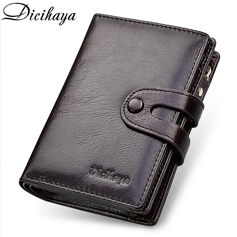 DICIHAYA Brand Wallet Genuine Leather Men Wallets Coin Purse Short Male Clutch Leather Wallet Mens Money Bag Quality Guarantee men wallets famous brand luxury genuine leather short bifold wallet mens clutch card holder male purse money bag coin pouch