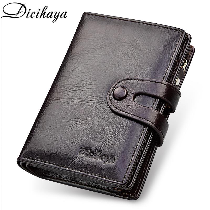 38c4a64d78182 DICIHAYA Marke Brieftasche Aus Echtem Leder Männer Brieftaschen Geldbörse  Kurze Männlichen Kupplung Leder Geldbörse Herren Geld Tasche Qualität  Garantieren