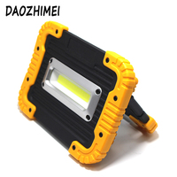 New Portable 18650 Built in battery COB Rechargeable Work Lamp 30W LED Camping USB Flashlight IP44 outdoor Floodlight