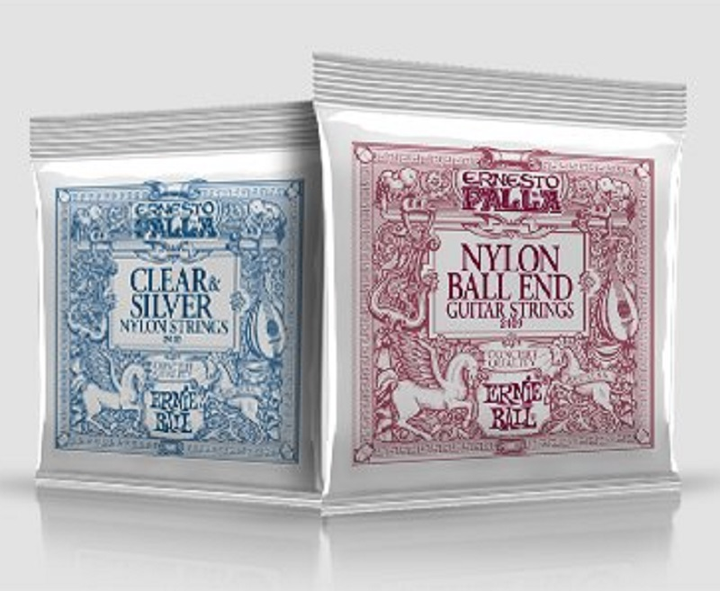 Ernie Ball 2406 or 2409 (Ball End) Ernesto Palla Black & Silver Nylon Classical Guitar Strings, 28-42 classical guitar strings set cgn10 classic nylon silver plated normal tension 028 045 classical guitar strings 6strings set