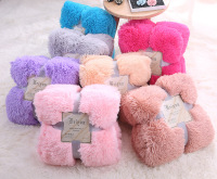 Baby kids Warm Fleece Blankets Sofa Bed Double Coral Plush Thicken Blanket Crystal Mink Fur Newborn Photography Props Blanket