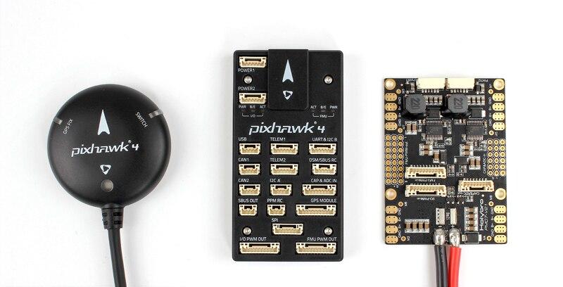 Contrôleur de vol d'origine Holybro Pixhawk 4 PX4 STM32F765 accessoire/Gyro Neo-M8N Module d'alimentation GPS Pixhawk PM07 Fr FPV RC Dron