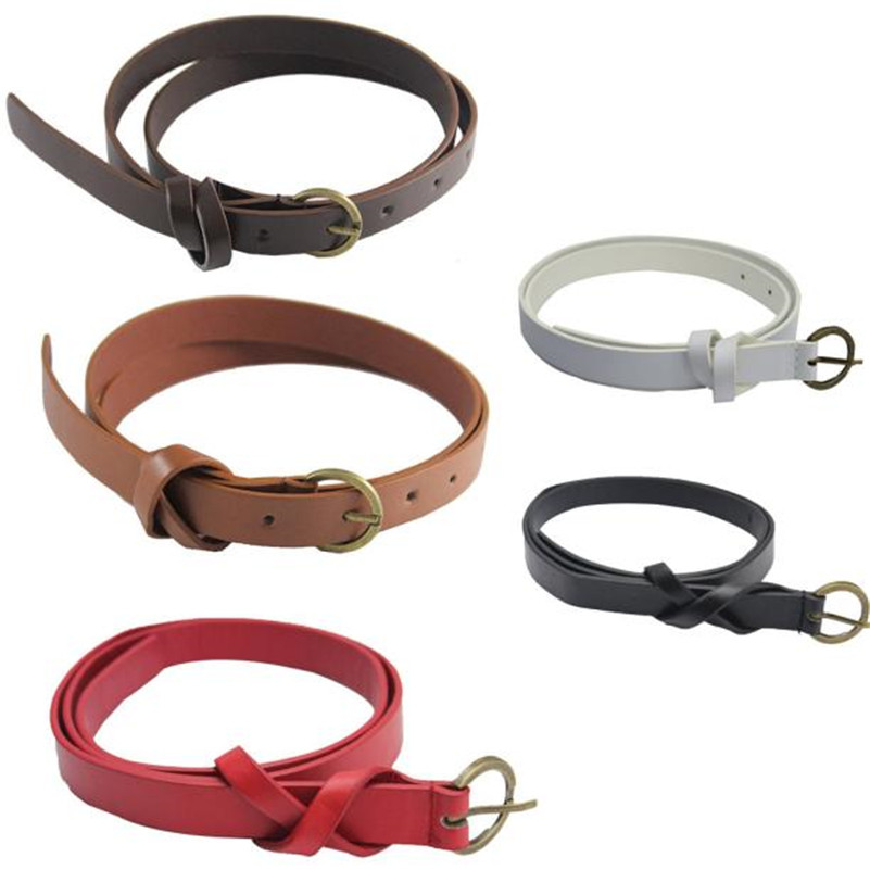 2017 Fashion Cross Female Belt Women's Belt Vintage 8 Shaped Casual Thin Leisure Belt Artificial leather Strap Cinturones Mujer