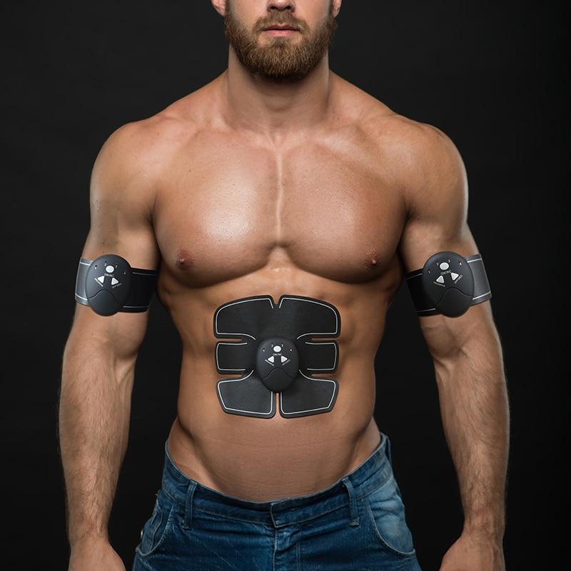 цена на EMS Wireless Muscle Stimulator Smart Fitness Abdominal Training Device Electric Weight Loss Stickers Body Slimming Belt Unisex