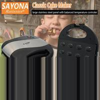 SAYONA Electric Walnut Cake Maker Sandwich Machine Iron Toaster Automatic Mini Nut Baking Breakfast Pan Oven Household