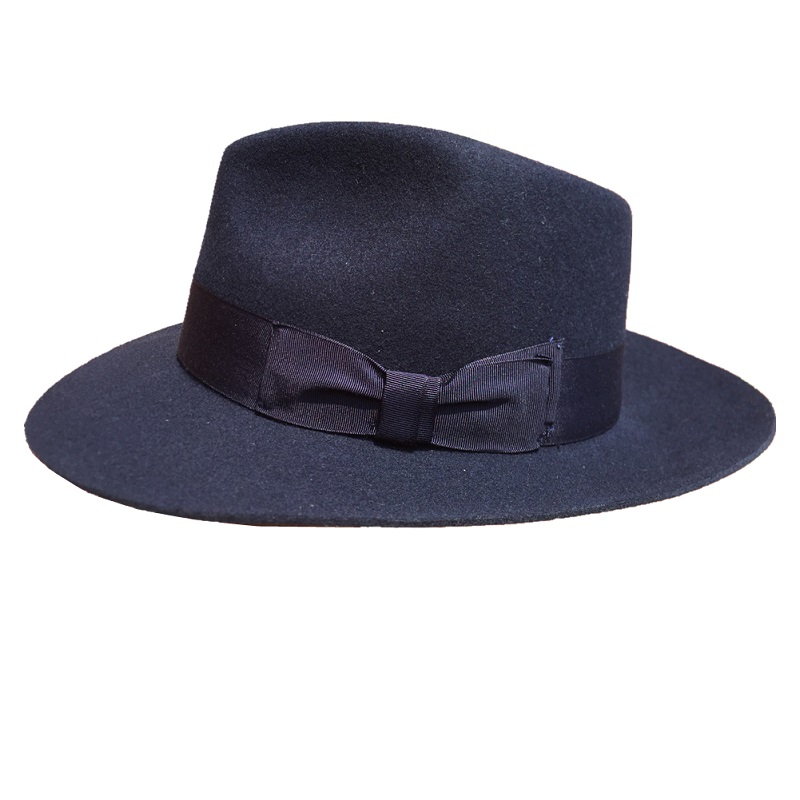 1ed1d121f637d Classic Deep Blue Wool Men s Fur Felt Fedora Hat Gangsters Hipsters-in  Fedoras from Apparel Accessories on Aliexpress.com