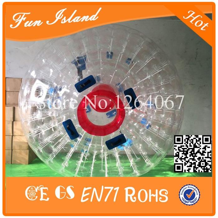 Livraison Gratuite 2.5 m Diamètre Zorbing Boule, PVC Matériel Zorb Boule De Bowling, utilisé Boule De Zorb, aqua zorbing balle pour vente