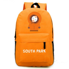 2016 South Park Keeny Backpack Funny Printing Canvas Backpack Teenagers Cartoon School Laptop Bag Casual Travel Bag Mochila Sack