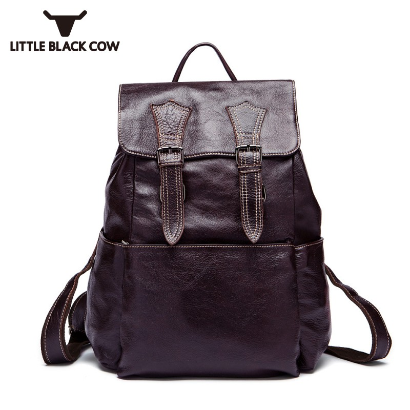 Italy Retro Design Teenager School Backpack Large Capacity Travel Bags Male High Quality Leather Preppy Style Satchel BookbagItaly Retro Design Teenager School Backpack Large Capacity Travel Bags Male High Quality Leather Preppy Style Satchel Bookbag
