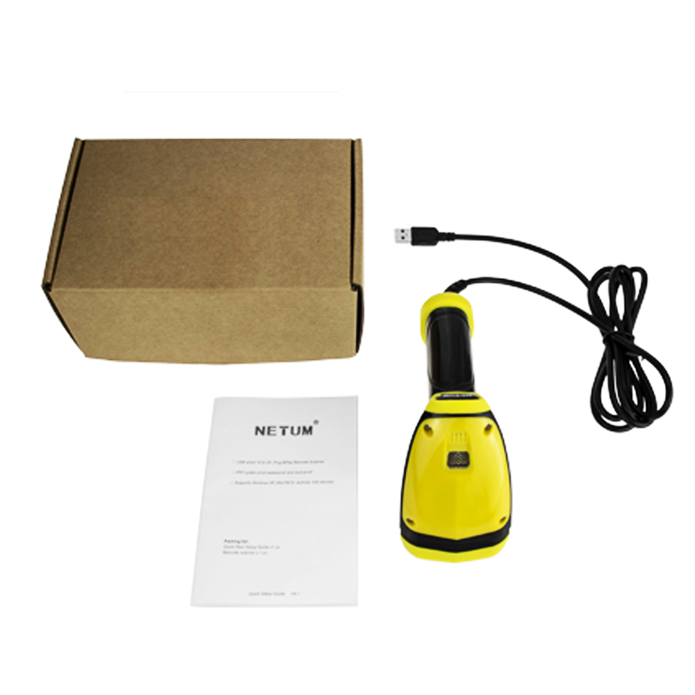 US $55 09 5% OFF|RD I1 Handheld 1D Wired Barcode Scanner QR Code Reader  IP68 Waterproof Wired 32Bit Portable USB A4 Bar Code for POS System-in