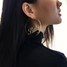 Maxi Long Geometric Baby Letter Dangle Earrings Fashion Amazing Tassel Punk Drop For Women Jewelry